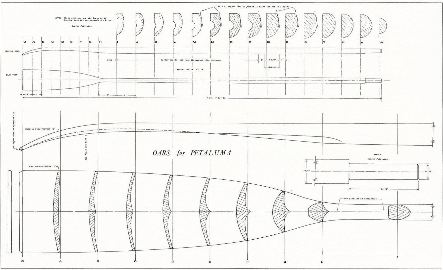 classic sculling oar