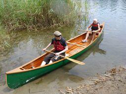 zeder streifen kanu und kajak
